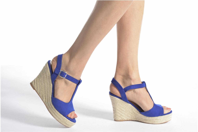 Alpargatas I Love Shoes MCADA Azul vista de abajo