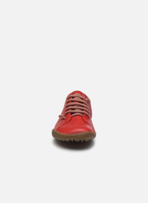 Scarpe con lacci Camper Peu Cami W Rosso modello indossato