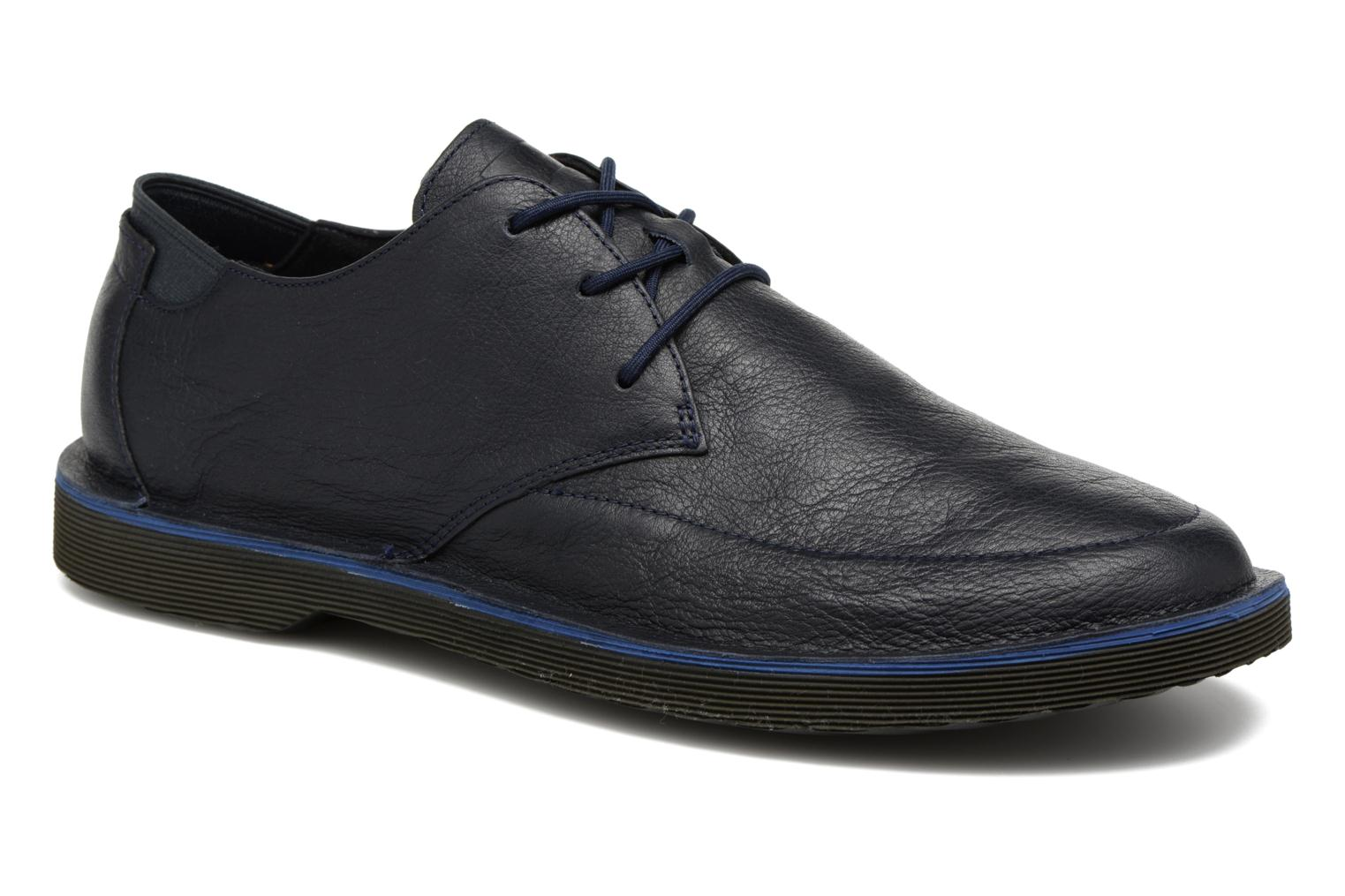 Lace-up shoes Camper Morrys Blue detailed view/ Pair view