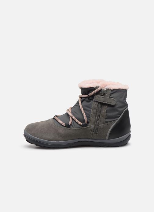 Chaussures à lacets Camper Peu Pista Kids G Gris vue face