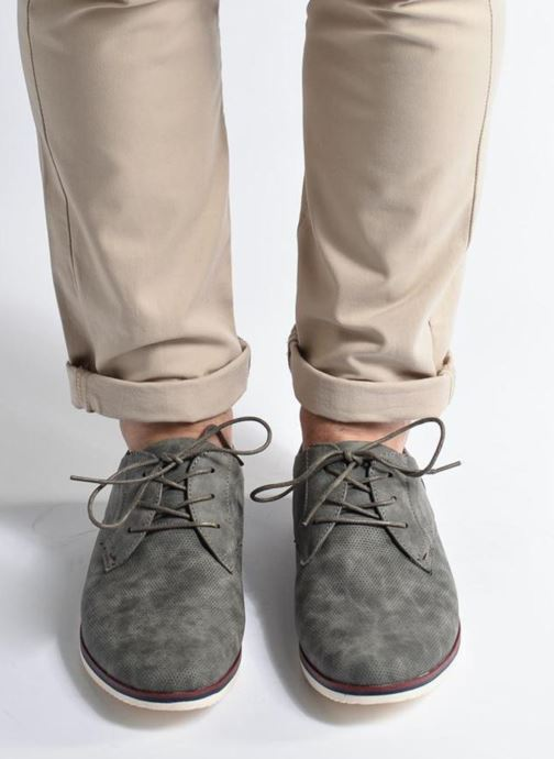 Lace-up shoes I Love Shoes KEHOLE Grey view from underneath / model view