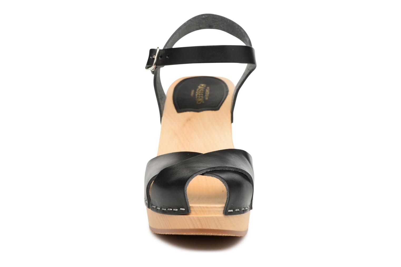 Sandalen Swedish Hasbeens Merci Sandal schwarz schuhe getragen