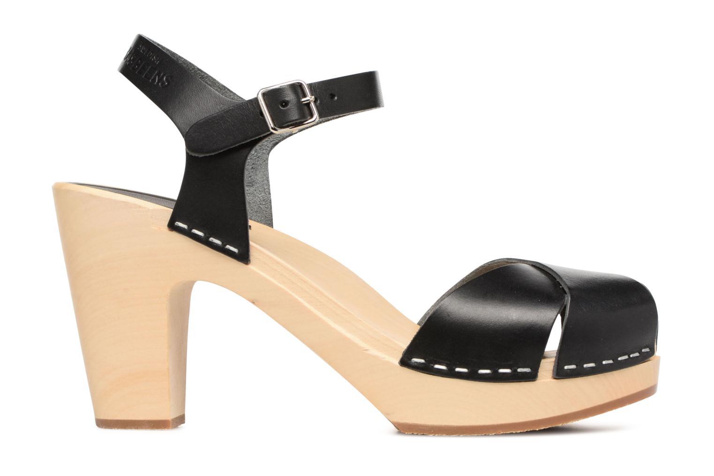 Sandalen Swedish Hasbeens Merci Sandal schwarz ansicht von hinten