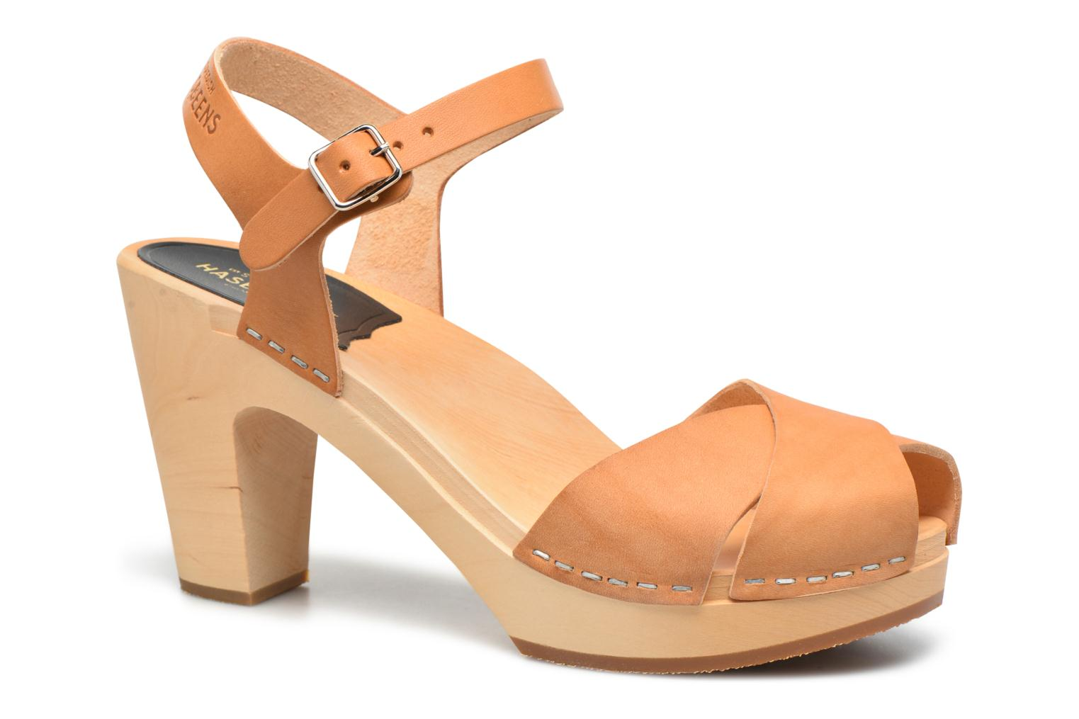Sandals Swedish Hasbeens Merci Sandal Beige detailed view/ Pair view