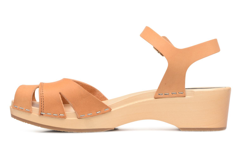 Sandali e scarpe aperte Swedish Hasbeens Suzanne Debutant Beige immagine frontale