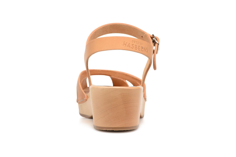 Sandali e scarpe aperte Swedish Hasbeens Suzanne Debutant Beige immagine destra