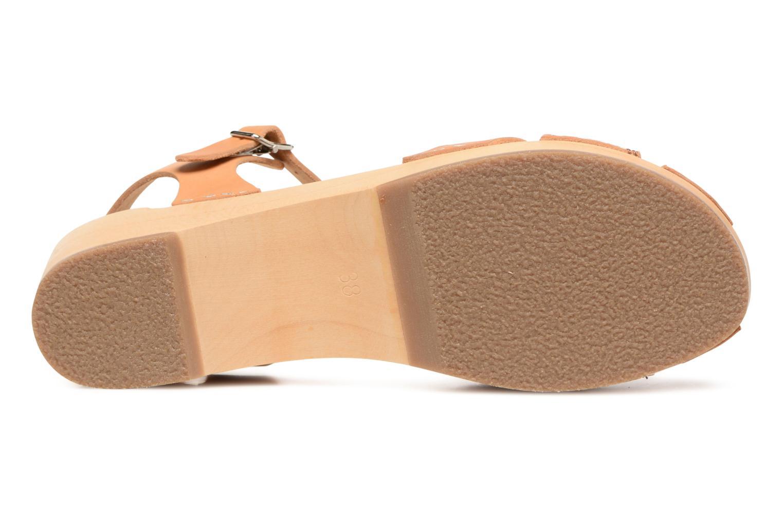 Sandali e scarpe aperte Swedish Hasbeens Suzanne Debutant Beige immagine dall'alto