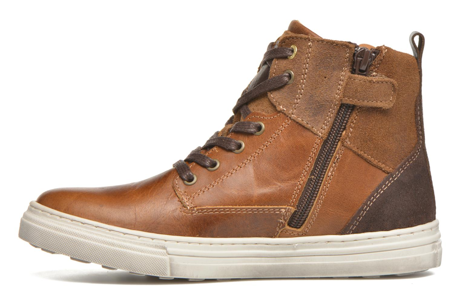 Baskets Pantofola d'Oro Benevento II mid JR Marron vue face