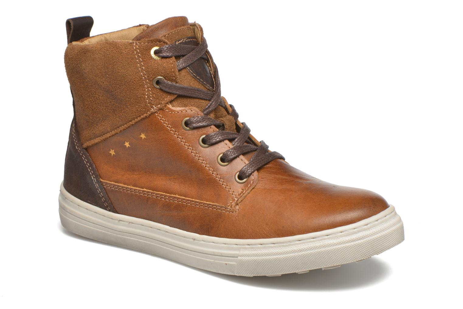 Baskets Pantofola d'Oro Benevento II mid JR Marron vue détail/paire