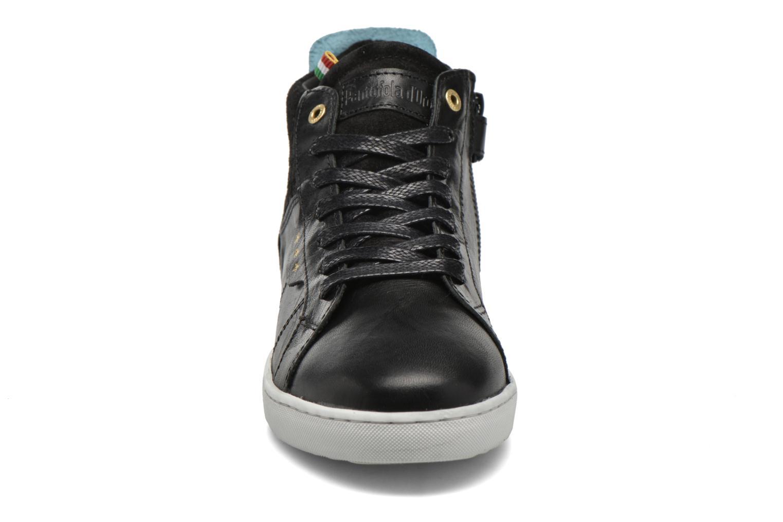 Baskets Pantofola d'Oro Montefino mid JR Noir vue portées chaussures