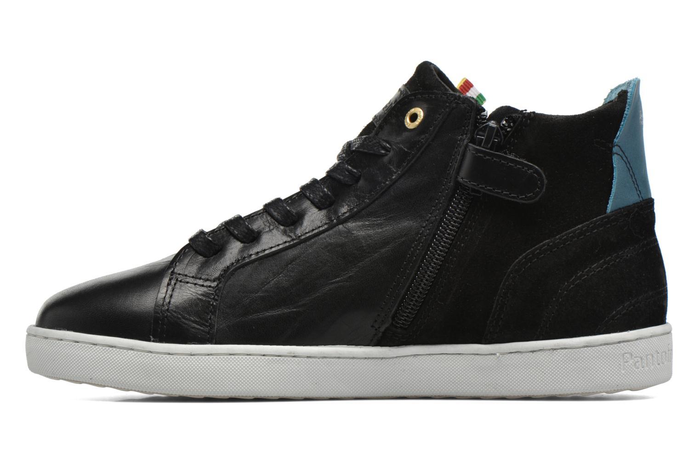 Baskets Pantofola d'Oro Montefino mid JR Noir vue face