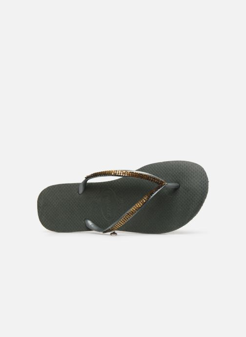 Slippers Havaianas Slim Metal Mesh Groen links