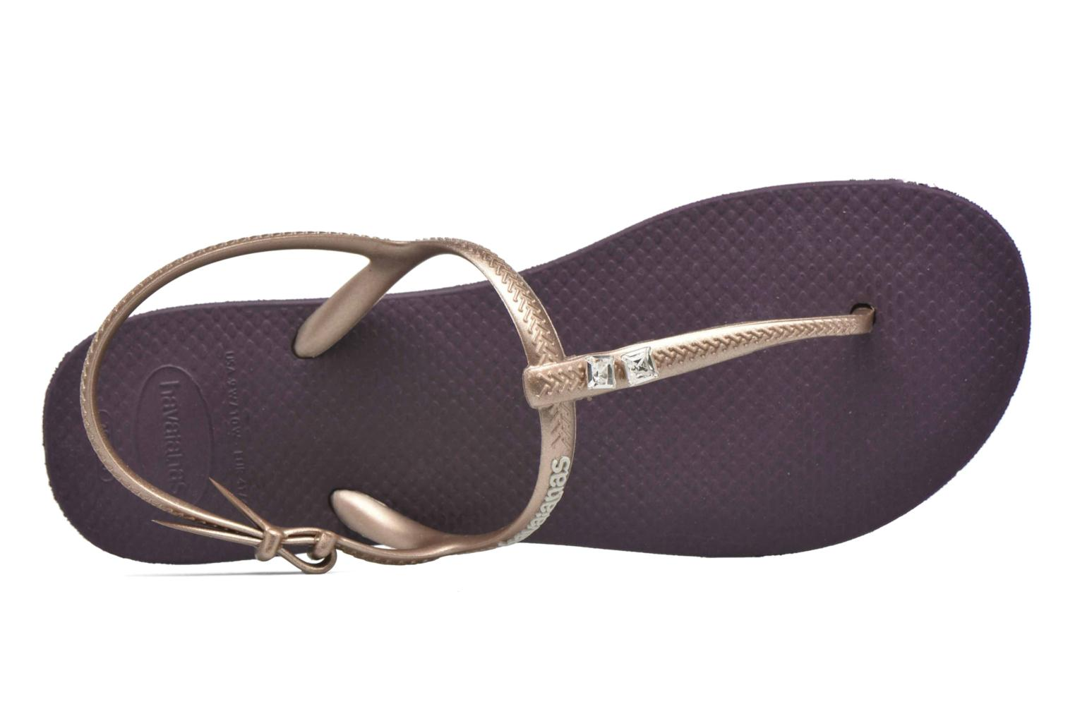 Sandals Havaianas Freedom Crystal Purple view from the left