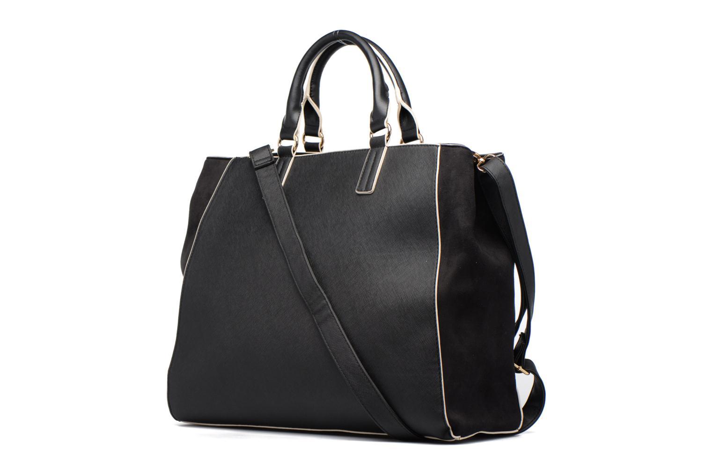 Handtaschen Dorothy Perkins Black WBone Piping Belted Oversize Tote schwarz ansicht von rechts