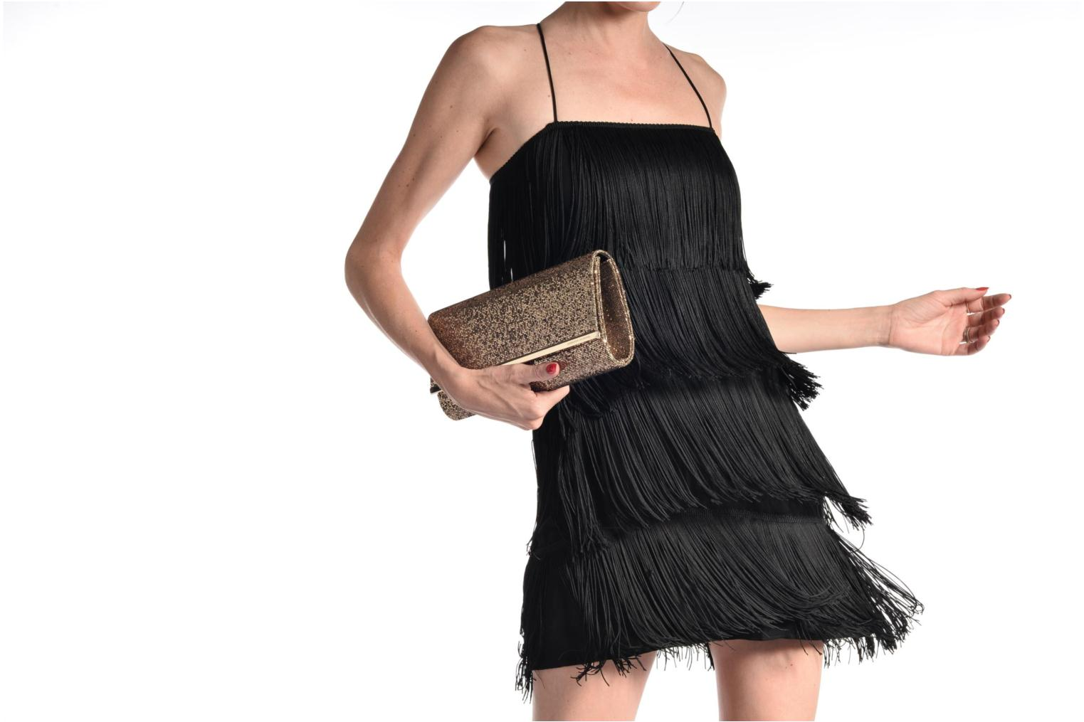 Sacs à main Dorothy Perkins Large Structured Clutch Noir vue haut