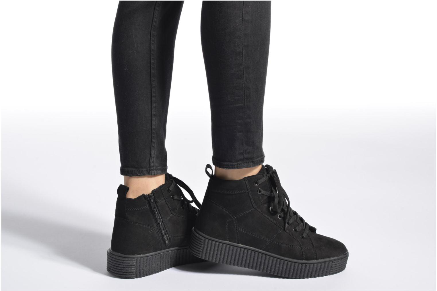 Baskets I Love Shoes THUMI HIGH Noir vue bas / vue portée sac