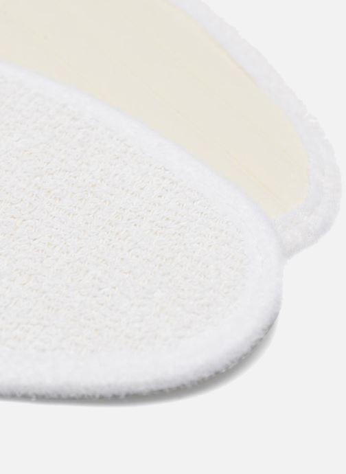 Solette Sarenza care Semelle Bouclette Coton Femme Bianco immagine destra