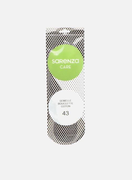 Semelles Sarenza care Semelle Bouclette Coton Homme Blanc vue portées chaussures