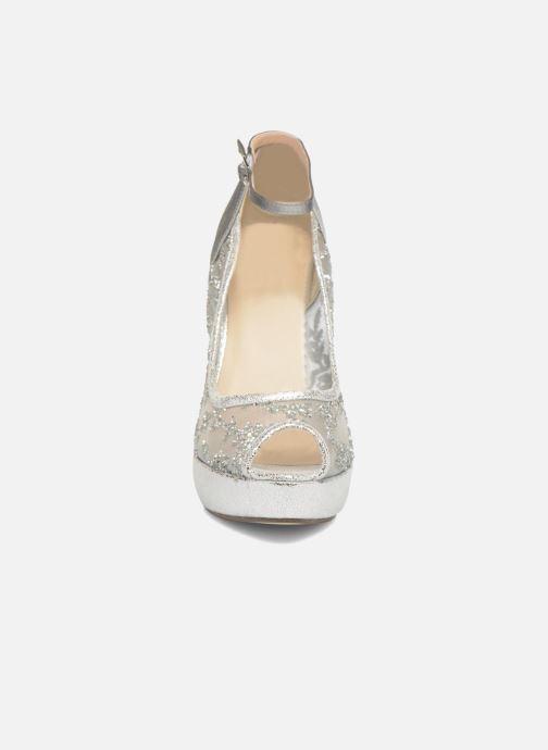Escarpins Menbur Annabella Argent vue portées chaussures