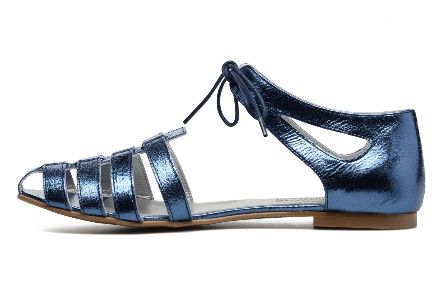 Sandals Ippon Vintage Popies Crease Blue front view