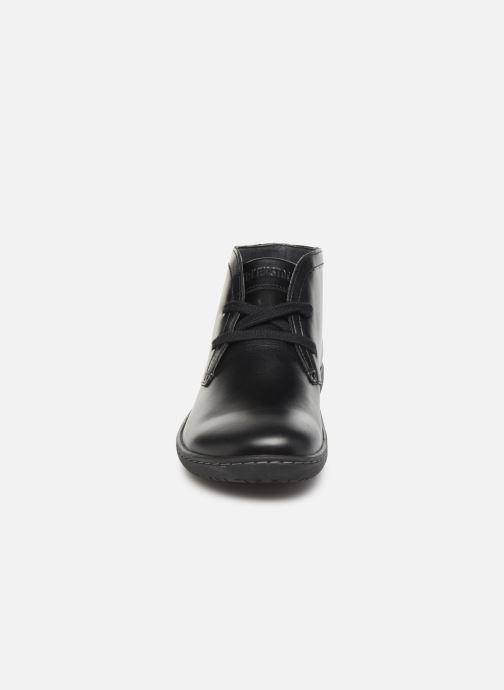 Schnürschuhe Birkenstock Scarba schwarz schuhe getragen