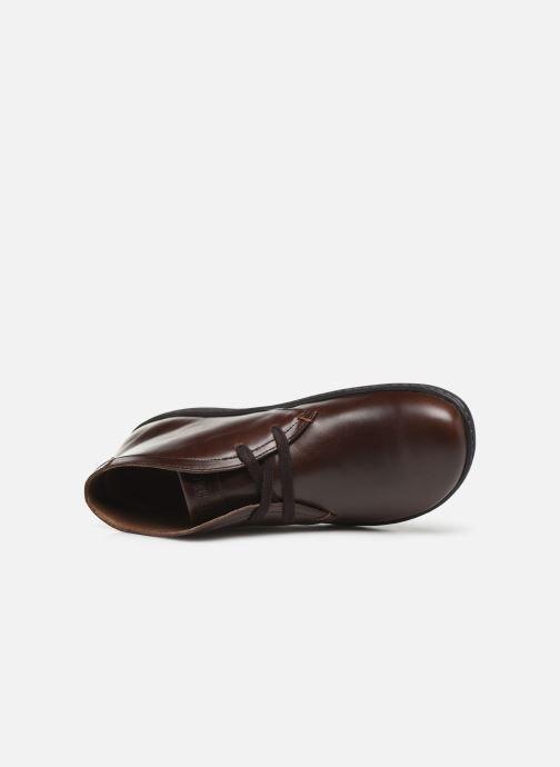 Schnürschuhe Birkenstock Scarba braun ansicht von links