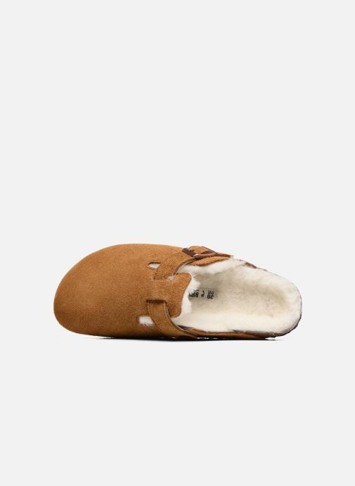 Pantuflas Birkenstock Boston Sheepskin W Marrón vista lateral izquierda