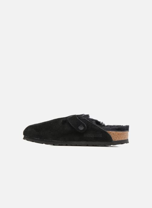 Chaussons Birkenstock Boston Sheepskin W Noir vue face