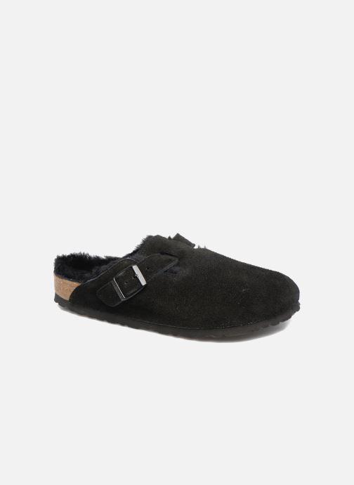 Hjemmesko Birkenstock Boston Sheepskin W Sort detaljeret billede af skoene