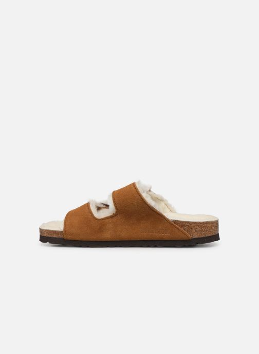 Chaussons Birkenstock Arizona Sheepskin W Marron vue face