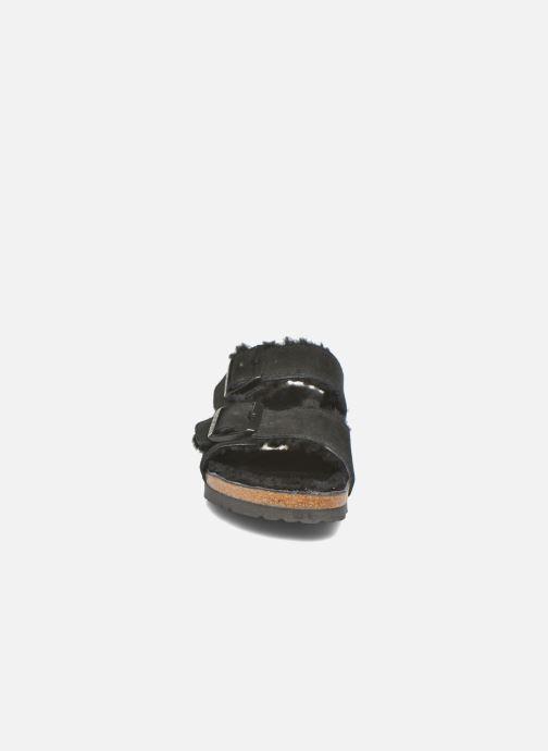 Hjemmesko Birkenstock Arizona Sheepskin W Sort se skoene på