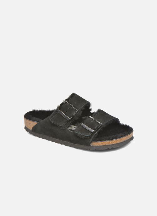 Hjemmesko Birkenstock Arizona Sheepskin W Sort detaljeret billede af skoene