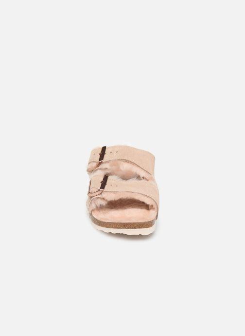 Hausschuhe Birkenstock Arizona Sheepskin W beige schuhe getragen
