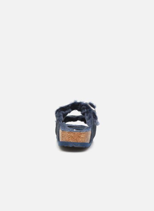 Pantofole Birkenstock Arizona Sheepskin W Azzurro immagine destra