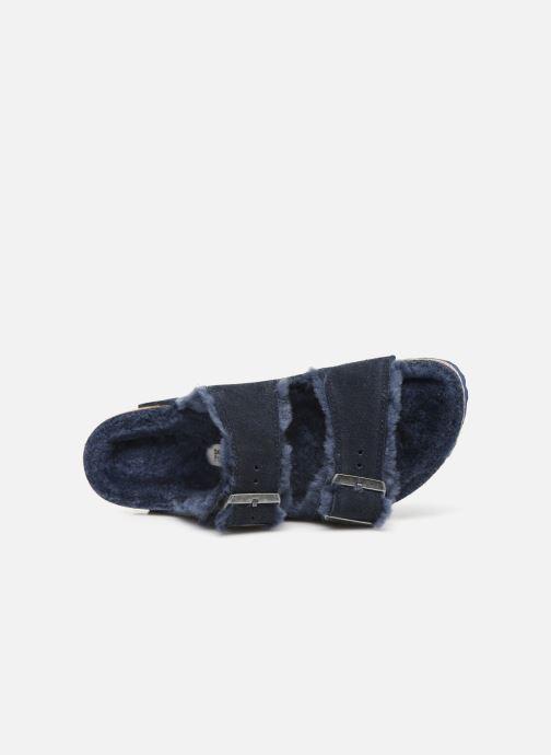Pantofole Birkenstock Arizona Sheepskin W Azzurro immagine sinistra