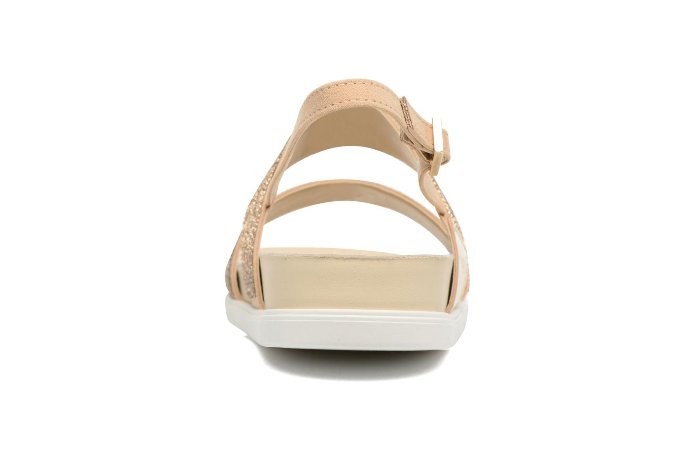 Sandales et nu-pieds Liu Jo Sandale Foot Bed Naoko Or et bronze vue droite