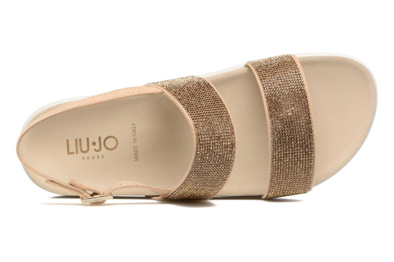 Sandales et nu-pieds Liu Jo Sandale Foot Bed Naoko Or et bronze vue gauche