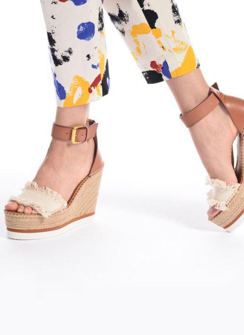 Sandales et nu-pieds See by Chloé Glyn High Marron vue bas / vue portée sac