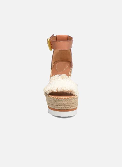 Sandales et nu-pieds See by Chloé Glyn High Marron vue portées chaussures