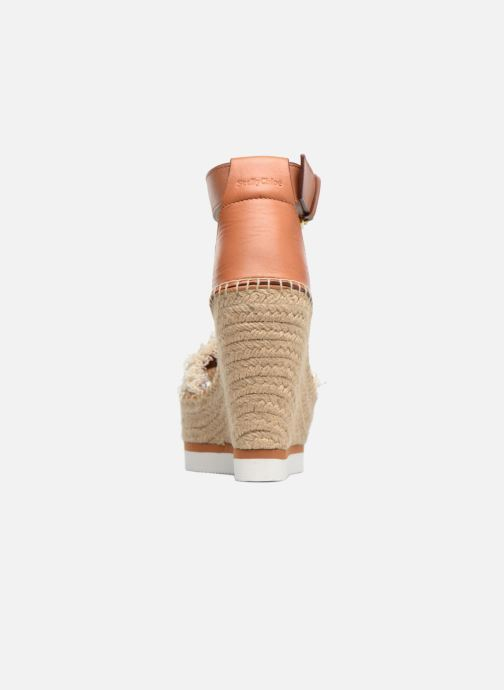 Sandales et nu-pieds See by Chloé Glyn High Marron vue droite