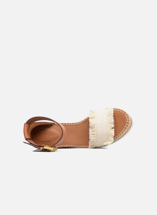 Sandales et nu-pieds See by Chloé Glyn High Marron vue gauche