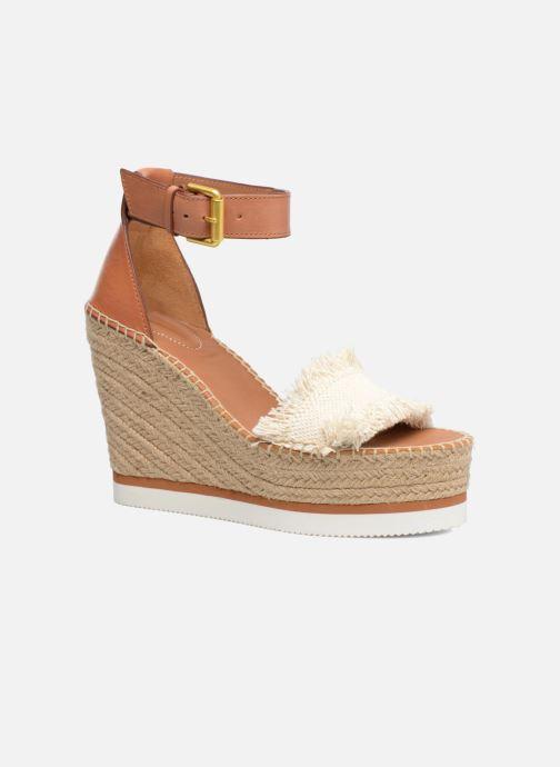 Sandales et nu-pieds See by Chloé Glyn High Marron vue détail/paire