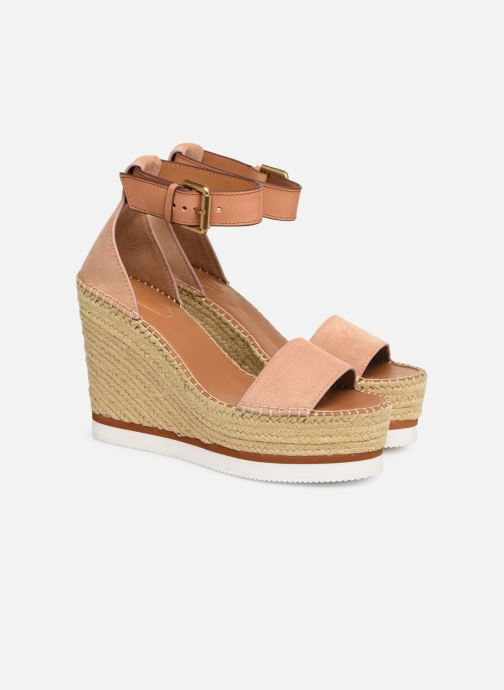 Sandaler See by Chloé Glyn High Pink 3/4 billede