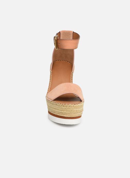 Sandalias See by Chloé Glyn High Rosa vista del modelo