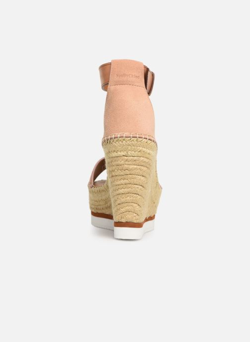 Sandales et nu-pieds See by Chloé Glyn High Rose vue droite