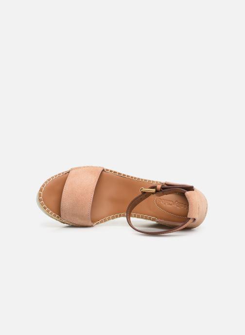 Sandaler See by Chloé Glyn High Pink se fra venstre
