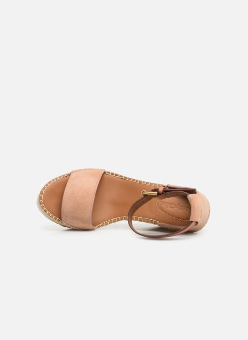 Sandales et nu-pieds See by Chloé Glyn High Rose vue gauche