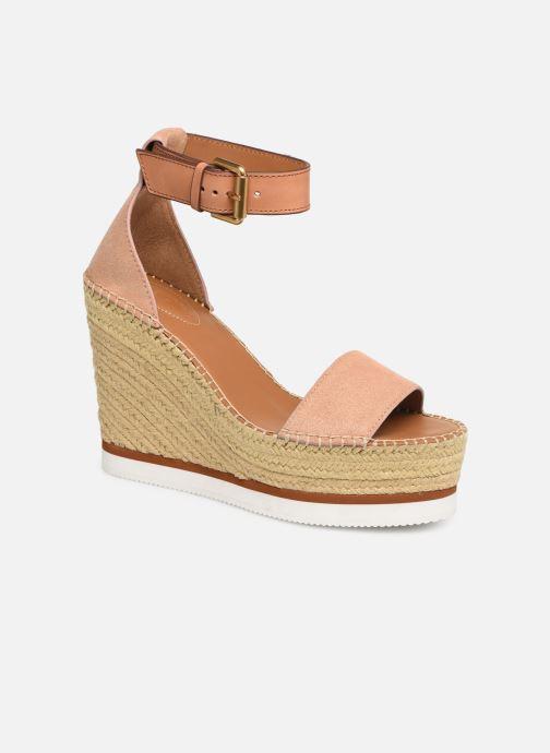 Sandaler See by Chloé Glyn High Pink detaljeret billede af skoene