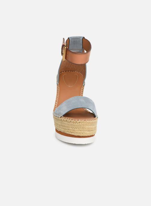 Sandales et nu-pieds See by Chloé Glyn High Bleu vue portées chaussures