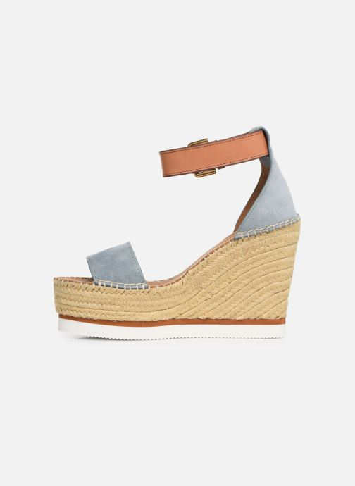 Sandales et nu-pieds See by Chloé Glyn High Bleu vue face